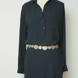 Michael Michael Kors button front shirt mini dress